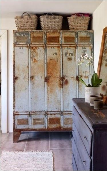 Lockerlove . . . vintage, industrial decoration. home. storage.