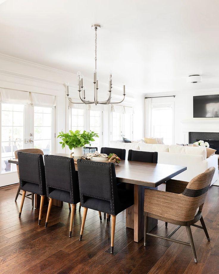 Breck Chandelier In 2020 Living Room Dining Room Combo Modern Dining Room Dining Room Design
