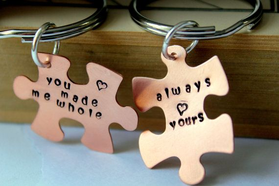 Valentines day Gift For Him – Puzzle piece Keychain, Valentines For Him, Gift For Boyfriend Valentine, Sexy Valentines