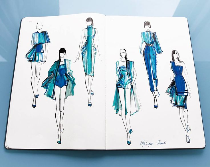 Fashionary sketches by Mélique Street fashion illustrations