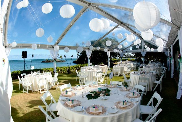 Clear Wedding Tent Oahu Photography Reception At Kahala Resort