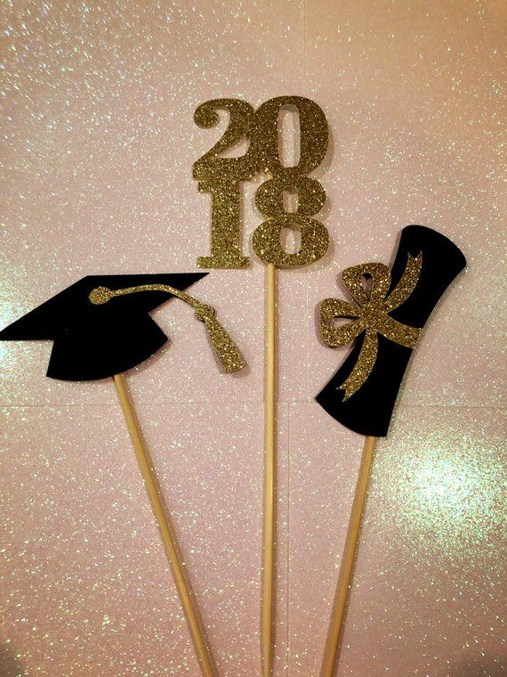 Graduation Centerpiece Sticks 2018, Graduation Party, Party Decor, Graduation Decorations, Graduatio