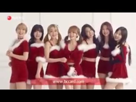 AOA transform Into Red Hot Santas in Their Latest CF
