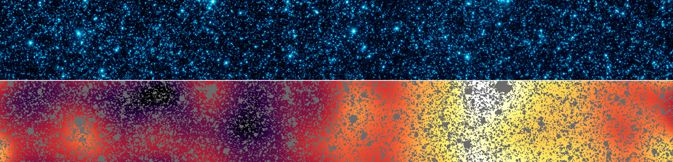 Glow from the earliest objects in the universe.