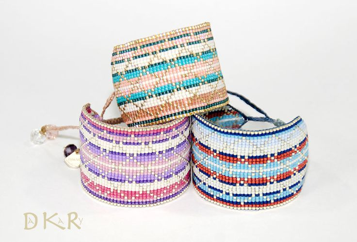 DAKARY COLLECTION SPRING / SUMMER 2017 Pulseras - Bracelets THUNDERBOLT Collection: Lillac-Pink, Harb.blue-Peach y Picante-Blue