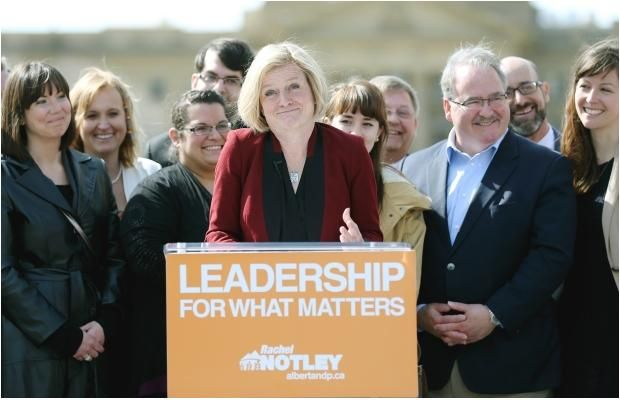 NDP Leader Rachel Notley makes final push for support