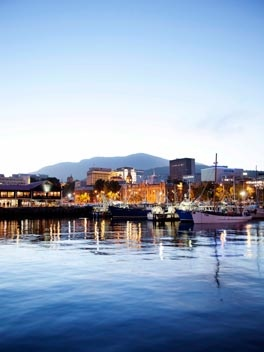 Happening Hobart - Gourmet Traveller. From fish and chips sitting on the docks to fine dining, Hobart has a wide variety of places to eat and drink. More info at http://www.huonvalleyescapes.net/hobart.html