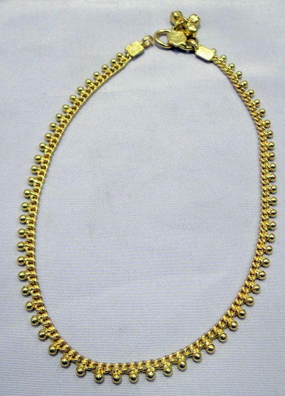 22 K Solid Gold Anklet Ankle Chain 11138 Anklet Gold