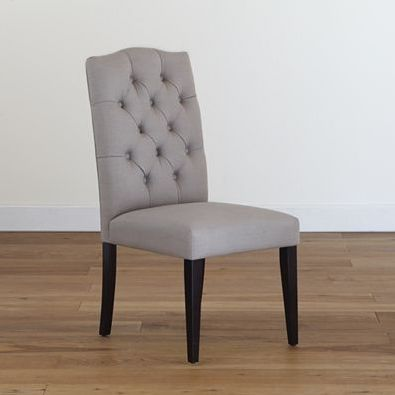 Captivating Grey Tufted Chair, Set Of 2   Dining Room Furniture