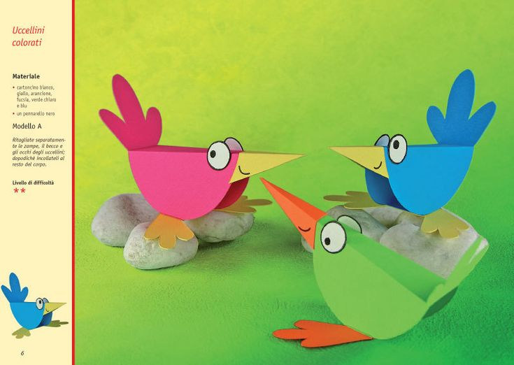 paper craft birds