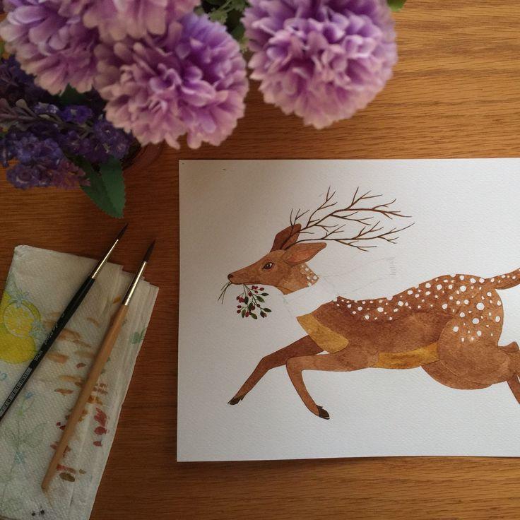 Watercoloring process