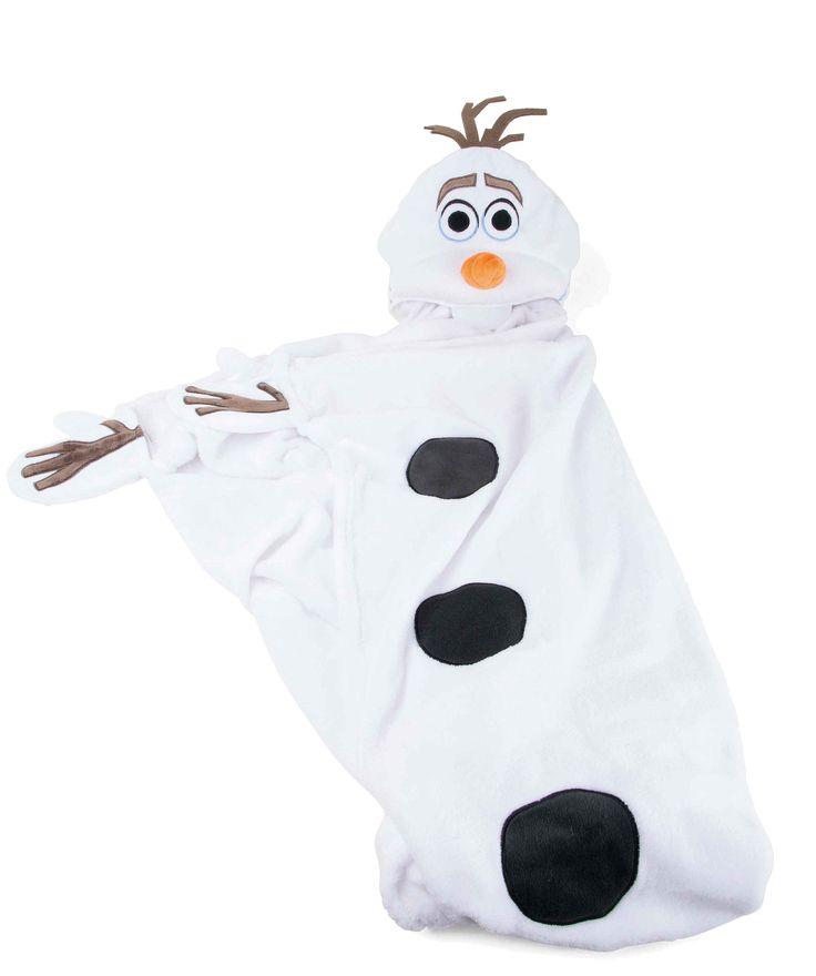 Let op Bevroren fans, Olaf is terug! De populaire Frozen Star Olaf is te zien op deze gezellige deken. Deze gezellige zachte deken houdt niet alleen de handen warm met de handschoenen maar ook het hoofd met de kap die Olaf's gezicht heeft.