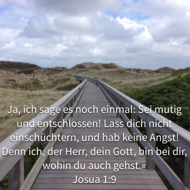 Joshua 1:9 auf deutsch.