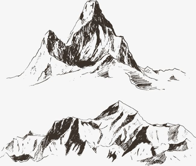 Vector Illustration Mountain Carving Mountain Clipart Sketch Hill Line Mountain Png And Vector With Transparent Background For Free Download Mountain Paintings Mountain Illustration Mountain Sketch