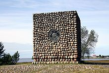 Halkokari battle (1854) monument. Kokkola, Central Ostrobothnia province of Western Finland - Keski-Pohjanmaa