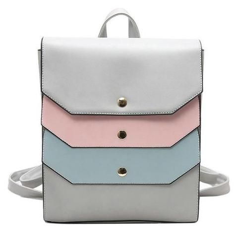 New Fashion PU Leather Square Backpack Square Backpack
