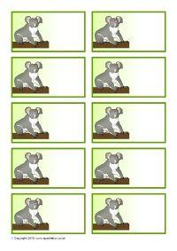 Australian Animal-Themed Editable Peg Labels (SB11388) - SparkleBox