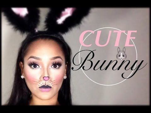 Cute Simple Bunny Makeup | Halloween Tutorial