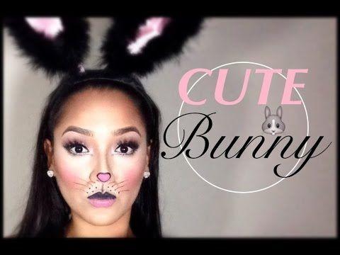 Cute Simple Bunny Makeup   Halloween Tutorial - YouTube