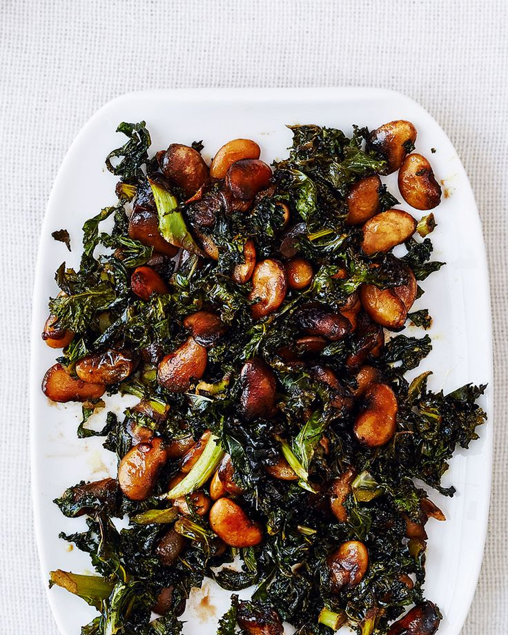 Try a new side dish with your lunch buffet – this combinations of sticky balsamic kale and butter beans works well with cooked ham or cold meats.