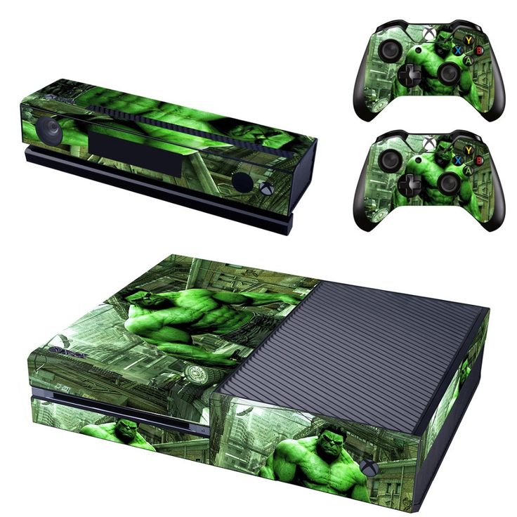 New Hulk Skin Sticker Decals Designed for Xbox One Console & Kinect & 2 Controller