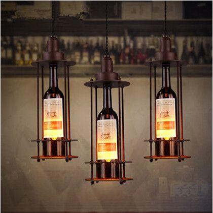 Industrial Vintage Loft Style Pendant Lights Iron Glass Bottle Lampshade Edison Hanglamp Fixtures For Home Lightings Droplight