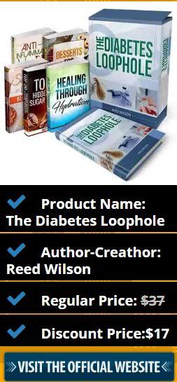 Product Name: The Diabetes Loophole Author-Creathor: Reed Wilson Regular Price: $37 Discount Price:$17