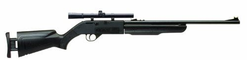 Crosman Recruit Air Rifle with Scope - http://www.airrifleforsale.com/air-rifles/crosman-recruit-air-rifle-with-scope-3/ -  Introducing the Recruit! Based on our tried and true 66 platform the Recruit features an adjustable stock for folks from 4 to 6 feet tall. This allows for a customizable length of pull for the individual shooter. It also allows young shooters to grow with the gun. The Recruit is available in .177 caliber and has velocities up to 680 fps. It works with bo