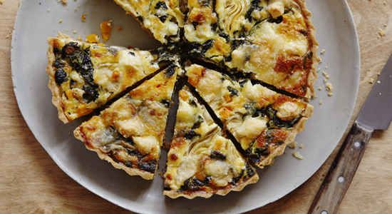 Goats cheese quiche by Daniel Galmiche