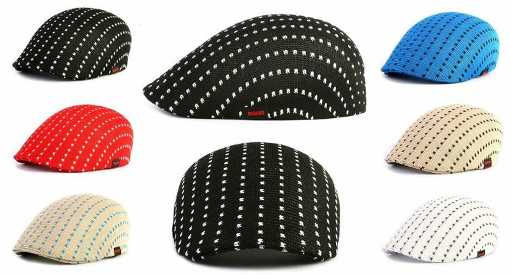 Mesh Gatsby Pattern Classic Ivy Newsboy Hat Duckbill Cap Flat Cabbie Driving New