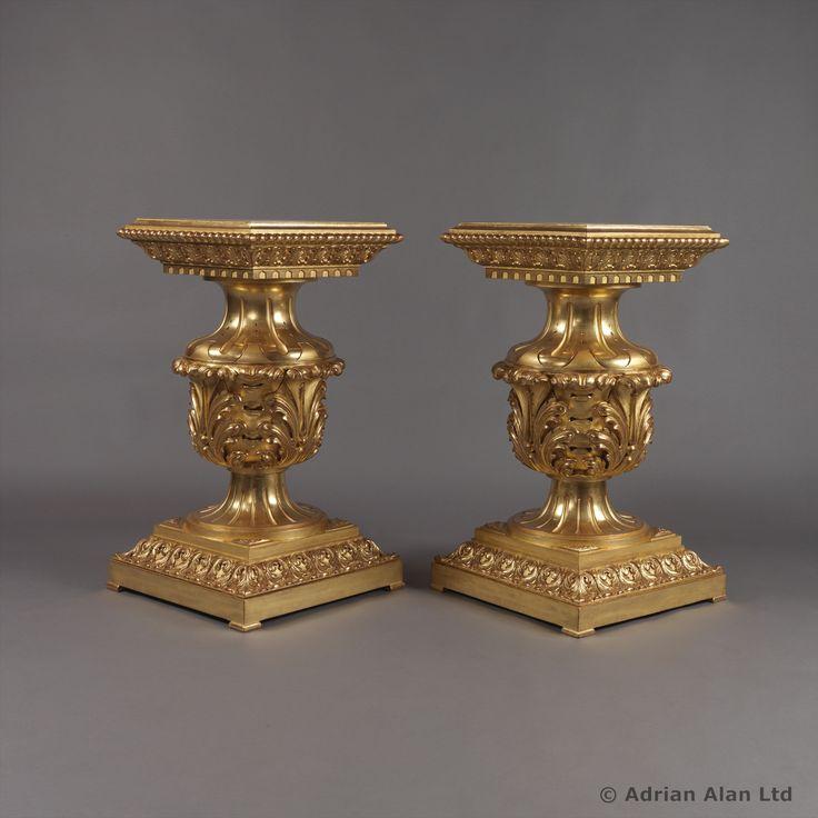 A Fine Pair of Giltwood Plinths - #adrianalan
