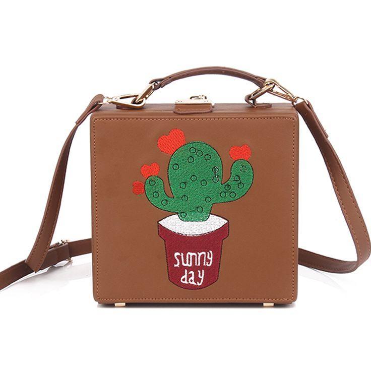 Купить товар2017 леди новый Европейской и Американской моды ретро кактус вышивка коробка сумка простой дизайн сумка на плечо косой сумка в категории  на AliExpress. 2017 леди новый Европейской и Американской моды ретро кактус вышивка коробка сумка простой дизайн сумка на плечо косой сумка