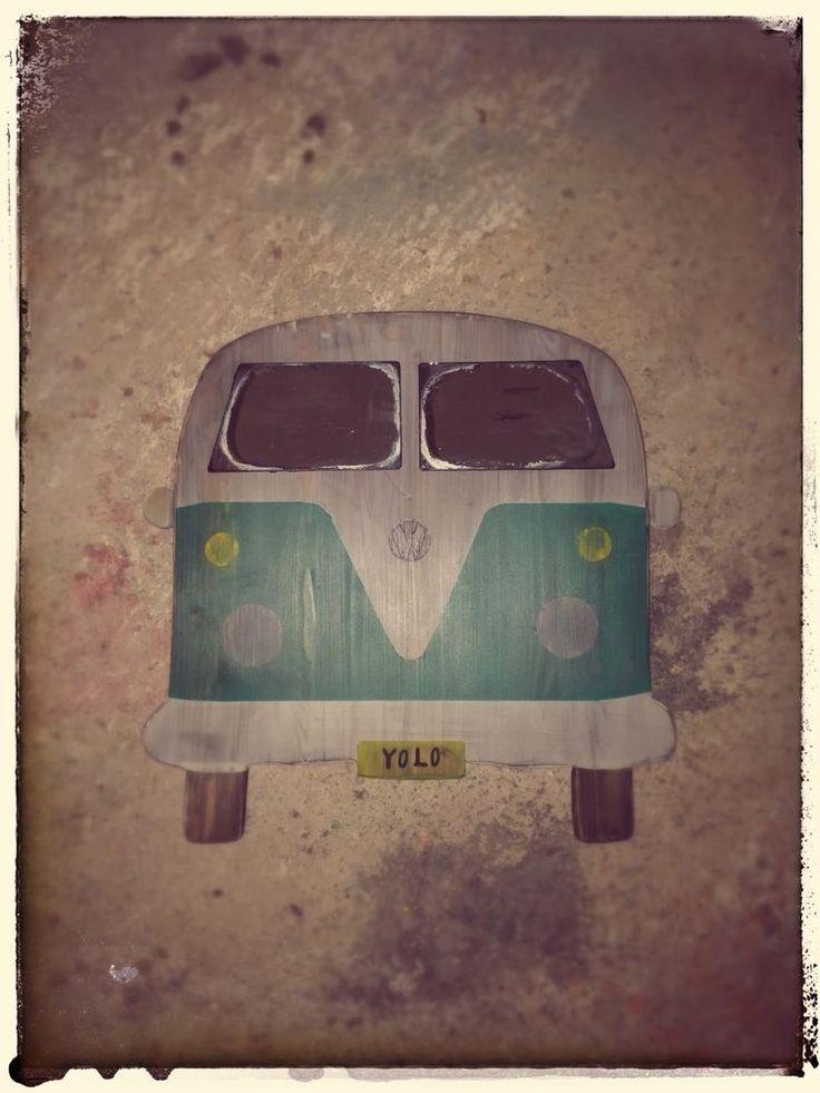 VW Volkswagen Bus Camper Van Wooden Signs Mirrors Vintage Style Man Cave Toy