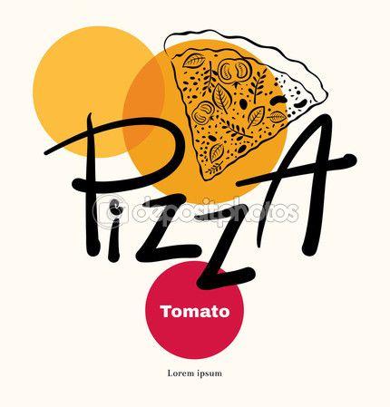 Modelo de logotipo de pizza — Ilustração de Stock #67158227