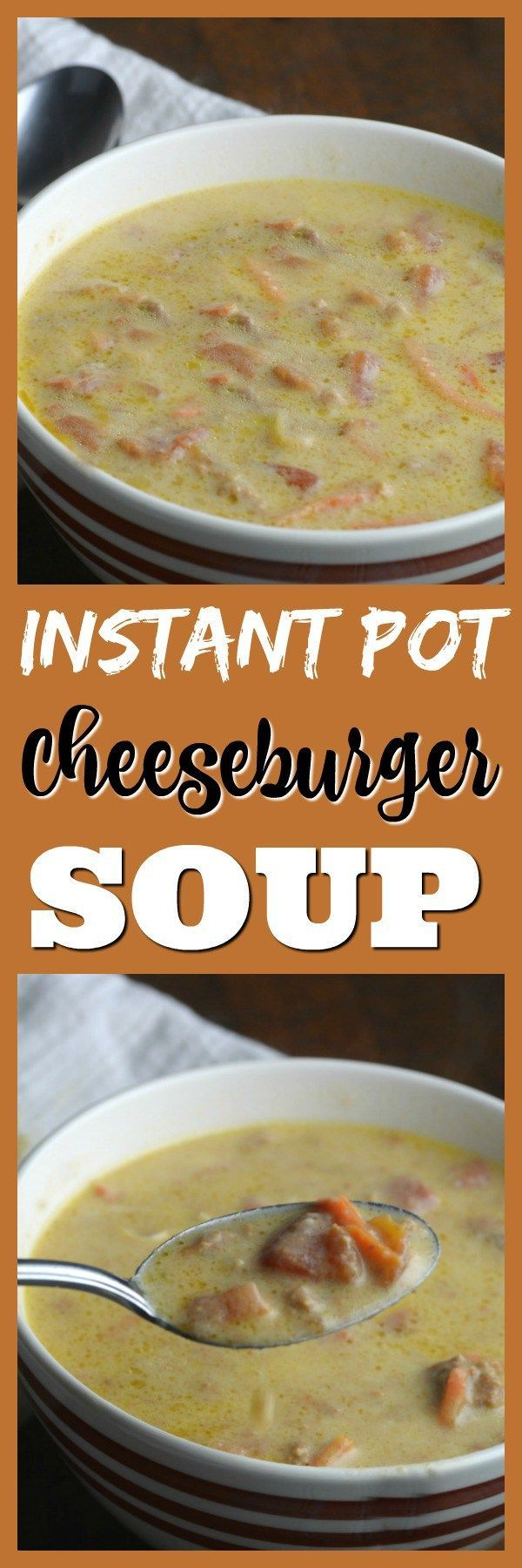 Share with friends Instant Pot Cheeseburger Soup It has already snowed here in central NY one day it was 62 the next we had a snow storm it figures. I think we are headed for a bad winter this year. That means lots of soups, stews, and casserole's in my Instant pot. Thanksgiving is over and …