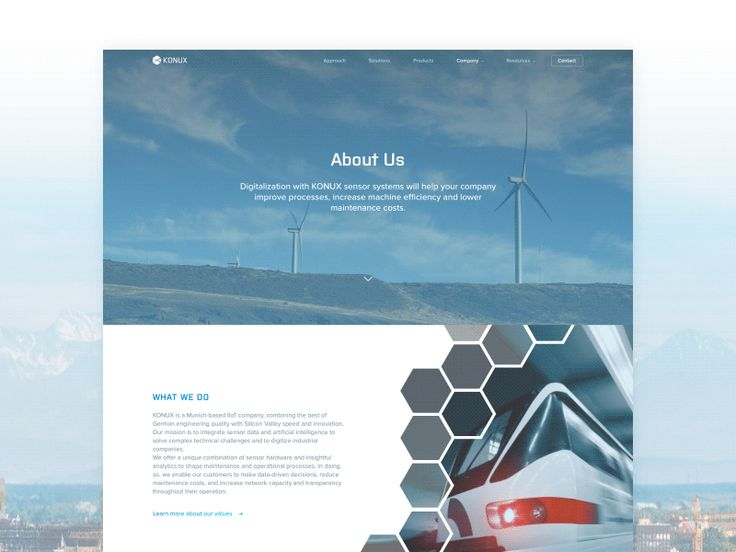 IIoT Corporate Website About Us Page Animation