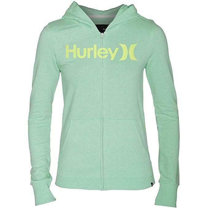1c624e1d57 Hurley One and Only Slim Women's Zip Hoody - Green Glow - XL | Best ...