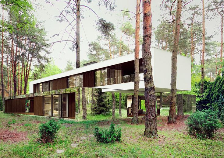 "Refelctive Mirror ""Izabelin"" house in Poland / designed by Reform achitects"