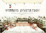 カラフルフラワーのシンプル結婚式無料招待状 | Mikiseabo -ミキシーボ-