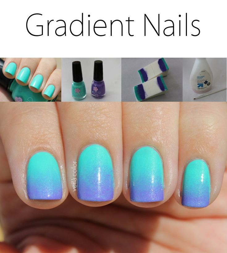 Gradient Nails nail art Tutorial using Island Girl Big Island Volcano  and Island Girl Aloha Luau