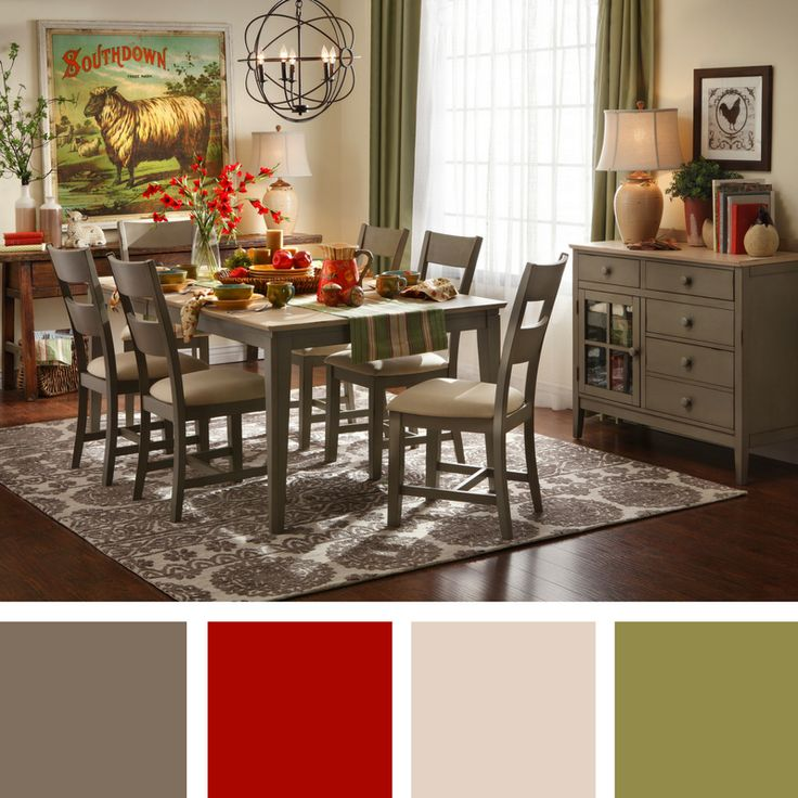Color Theory Country Chic Mushroom Dining Room Palette For The Home