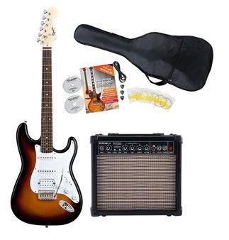 Fender Squier Bullet Strat HSS RW BSB Starter SET