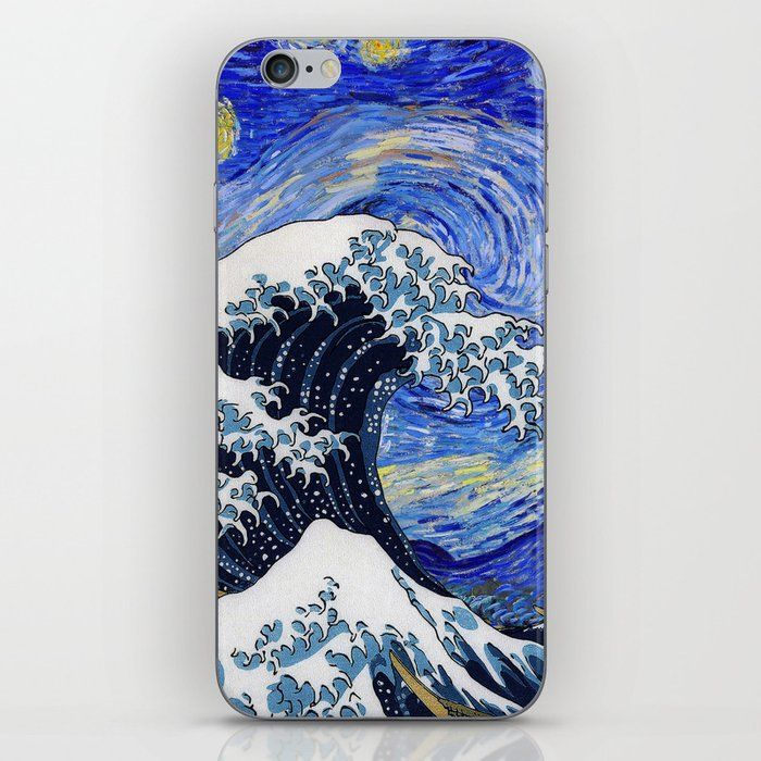 Not Looking For A Case But Want To Customize Your Phone With Rad Designs All You Need Is An Iph Starry Night Van Gogh Great Wave Off Kanagawa Galaxy Painting