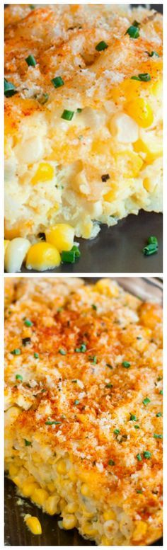 Cheddar Sweet Corn Pie ~ Sweet corn and salty cheddar, juicy kernels and crispy breadcrumb topping, this cheesy pie is the perfect marriage of farm fresh produce and comfort food favorites... It's ready for the oven in 20 minutes and tastes just as great reheated.