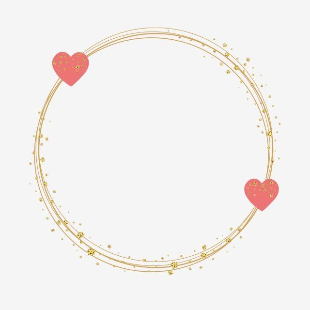 الإطار الذهبي مع قلوب إكليل حب احبك Png والمتجهات للتحميل مجانا Floral Logo Design Floral Logo Doodle Frames