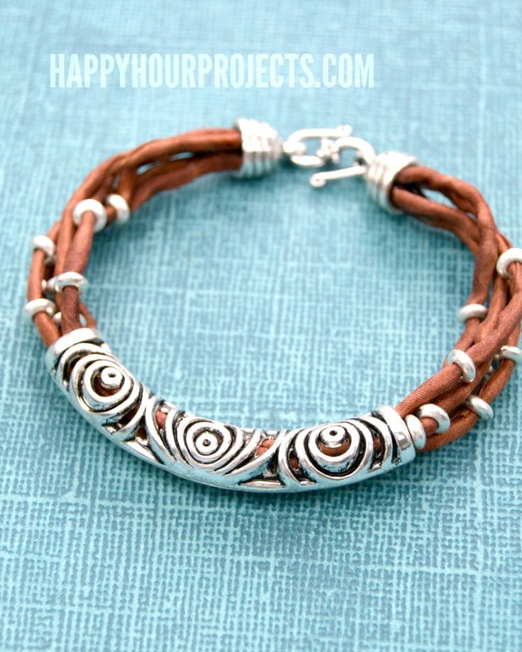659 best happy hour projects on the blog images on pinterest silk silver layered tube bead diy bracelet at happyhourprojects solutioingenieria Images