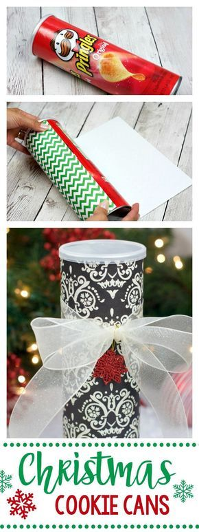 Use a Pringles Can to Make a Christmas Cookie Can