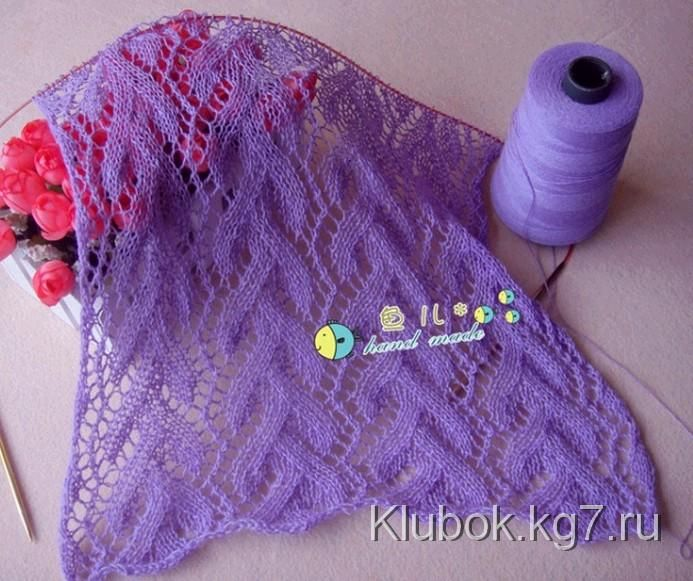 Красивый узор для палантина или шарфа | Клубок