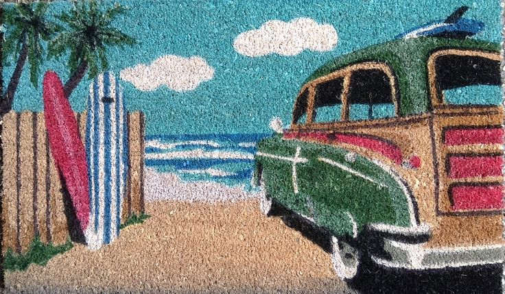 The Gecko Shack - Beach Wagon Surfer style coir fibre door mat 75cm, $29.95 (http://www.geckoshack.com.au/beach-wagon-surfer-style-coir-fibre-door-mat-75cm/)