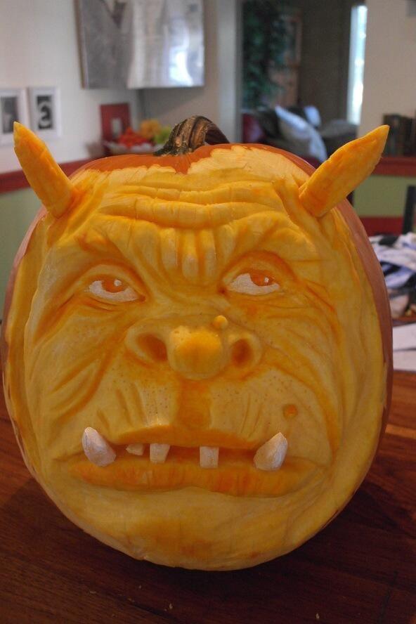3d Pumpkin sculpt 2013 Pumpkin carving
